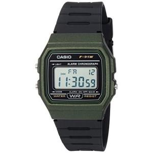 Casio Men's Digital Casual Watch, Green/Black - F91WM-3A