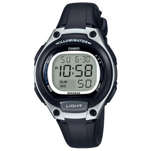 Casio Ladies Easy Reader Digital Watch, Black/White