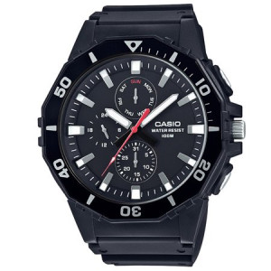 Casio Men's Large Face Diver Style Watch, Black