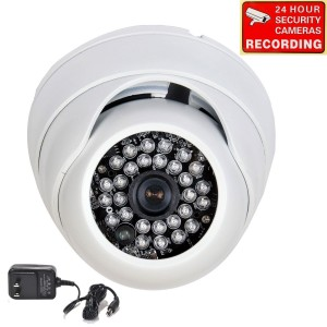 """VideoSecu Day Night Vision Outdoor 28 Infrared LEDs Weatherproof Security Camera Built-in 1/3""""  Sony CCD 3.6mm Wide Angle View Lens (Power Supply Inc"""
