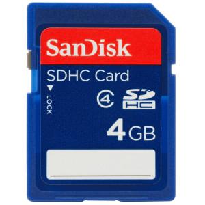 SanDisk 4GB Class 4 SDHC Flash Memory Card- SDSDB-004G-B35 (Label May Change)