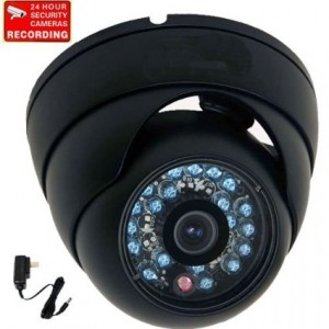 """VideoSecu 600TVL Outdoor IR Infrared Home Dome Security Camera Built-in 1/3""""  Sony Color CCD Wide Angle High Resolution Day Night for CCTV DVR Survei"""