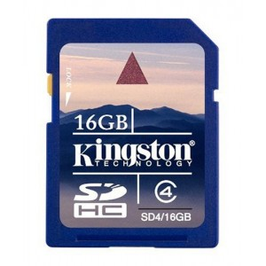 Kingston 16 GB Class 4 SDHC Flash Memory Card SD4/16GBET