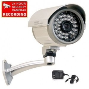 "VideoSecu CCTV Security Camera Built-in 1/3""  SONY CCD Outdoor Indoor Weatherproof Night Vision IR Infrared Free Power Supply C67"
