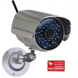 VideoSecu Bullet Security Camera Outdoor Day Night Vision IR Infrared LED Home CCTV Surveillance with Free Security Warning Decal 1FY