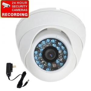 """VideoSecu 600TVL Built-in 1/3""""  SONY CCD Outdoor Dome Security Surveillance Camera Day Night Vision Vandal Proof IR Infrared 3.6mm Wide Angle Lens fo"""