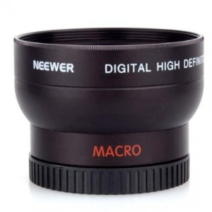 NEEWER 37MM High Definition Professional Photography Camera Lens - Wide Angle / 0.45X Macro Conversion Lens for Kodak, Canon and ANY Camera with a 37