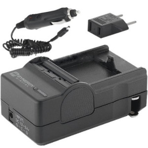 Nikon D3100 Digital Camera Battery Charger (110/220v with Car and EU adapters) - Replacement Charger for Nikon MH-24 Charger