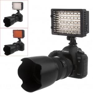 NEEWER 160 LED CN-160 Dimmable Ultra High Power Panel Digital Camera / Camcorder Video Light, LED Light for Canon, Nikon, Pentax, Panasonic,SONY, Sam