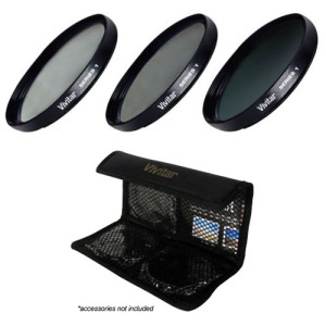 Vivitar 3-Piece Multi-Coated HD Filter Set (40.5mm UV/CPL/ND8)