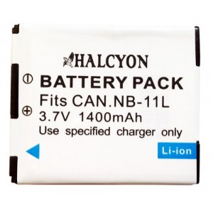 Halcyon 1400 mAh NB-11L Lithium Ion Replacement Battery for Canon Elph 115 HS, Elph 130 HS, Elph 320 HS, Elph 110 HS Canon PowerShot A2500, A2600, A2