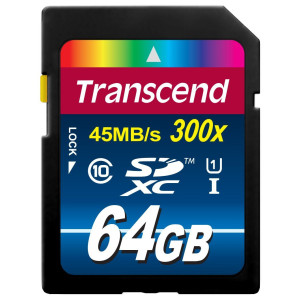 Transcend 64GB High Speed 10 UHS Flash Memory Card TS64GSDU1E (up to 45 MB/s, 300x)