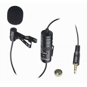Canon EOS 70D Digital Camera External Microphone Vidpro XM-L Wired Lavalier microphone - 20' Audio Cable - Transducer type: Electret Condenser