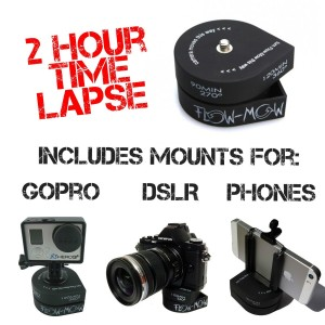 The Accessory Pro Flow-Mow 2 Hour Timelapse compatible with all GoPro / DSLR / Cell Phone with Tripod and Phone Mount