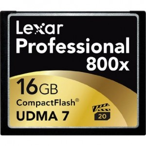 Lexar Professional 800x 16GB VPG-20 CompactFlash Card (Up to 120MB/s Read) w/Free Image Rescue 5 Software LCF16GCRBNA800