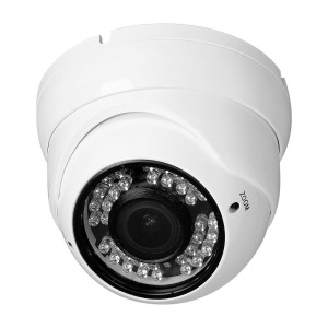 R-Tech RVD70W 700TVL Outdoor Dome Security Camera with Night Vision and 2.8-12 mm Varifocal Lens (White)