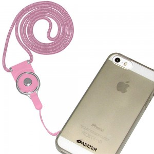 Amzer Detachable Phone Neck Lanyard - Baby Pink