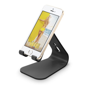 elago M2 Stand for all iphones, Galaxy and Smartphones (Angled Support for FaceTime), Black