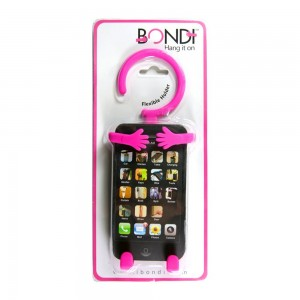 Bondi Unique Flexible Cell Phone Holder Made of High Quality Silicon - Retail Packaging - Pink