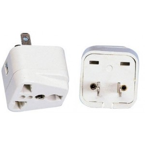 Tmvel Universal International Power Adapter Plug Tip Converter - Convert Europe To USA - Great for Cell Phone Charger