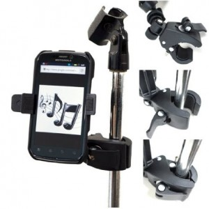 ChargerCity Music Mic Microphone Stand Smartphone Mount with Multi Angle Adjustment 360° Swivel Holder for Apple iPhone 6 Plus 5s 5c 5 4s Samsung Gal