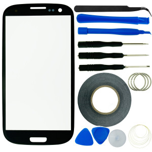 Samsung Galaxy S3 Screen Replacement Kit including 1 Replacement Screen for Samsung Galaxy S3 9300 / 1 Pair of Tweezers / 1 Roll of Adhesive Tape / 1