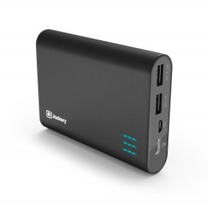 Jackery Giant+ Dual USB Portable Battery Charger and External Battery Pack for iPhone, iPad, Galaxy, and Android Smart Devices - 12,000 mAh (Black)
