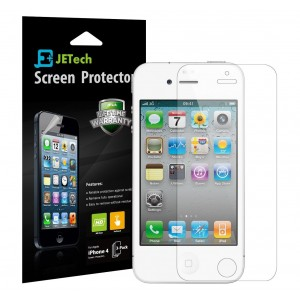 iPhone 4S Screen Protector, JETech 3-Pack HD Screen Protector Film for iPhone 4/4S Hassle Free, High Definition