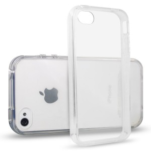 iPhone 4 Case, JETech iPhone 4 4S Case Bumper Shock-Absorption Bumper and Anti-Scratch Clear Back for Apple iPhone 4/4S (Clear)
