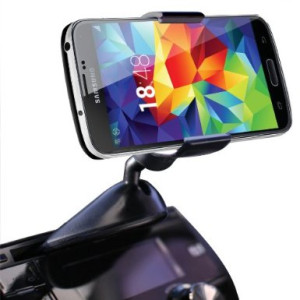 Koomus CD-Eco Universal CD Slot Smartphone Car Mount Holder Cradle for Samsung Galaxy S5 S4 S3 Galaxy Note 3 Note 2 iPhone 6 6+ 5S 5C 5 4S 4 iPod Tou
