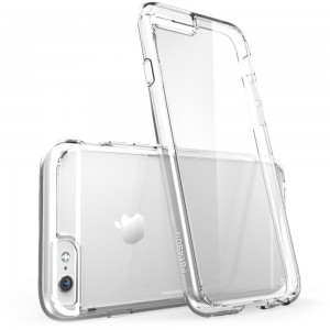 iPhone 6 Plus Case , [Scratch Resistant] i-Blason **Clear** Halo Series Apple iPhone 6 Plus Case 5.5 inch Hybrid Cover (Clear)