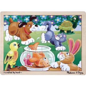 Melissa and Doug Playful Pets Jigsaw (12 pc)