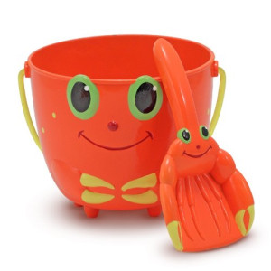 Melissa and Doug Sunny Patch Clicker Crab Pail and Shovel