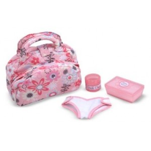 Melissa & Doug Mine to Love Doll Diaper Changing Set With Bag, Wipes, Accessories (7 pcs)