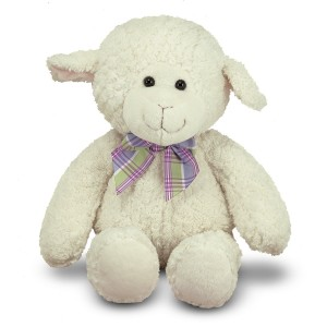 "Melissa and Doug Princess Soft Toys 16""  Plush Lovey Lamb"