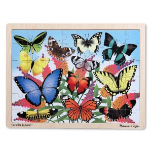 Melissa and Doug Butterfly Garden Wooden Jigsaw Puzzle (48 Pieces)