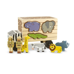 Melissa and Doug Animal Rescue Shape-Sorting Truck