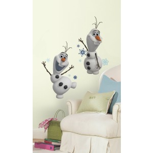 Roommates RMK2372SCS Frozen Olaf The Snow Man Peel and Stick Wall Decals, 25 Count