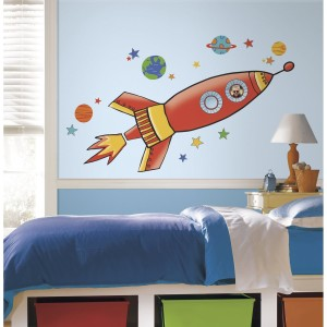 RoomMates RMK2619GM Rocket Peel and Stick Giant Wall Decals