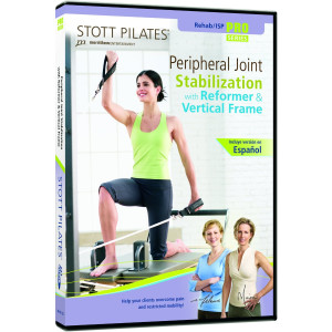 STOTT PILATES Peripheral Joint Stabilization on Reformer with Vertical Frame (English/Spanish)