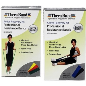 Thera-Band Active Recovery Kits - Latex-Free Exercise Band Packs - Beginner or Advanced