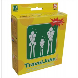 TravelJohn Disposable 5 pack Vomit/Urine Bag for Children and Adults