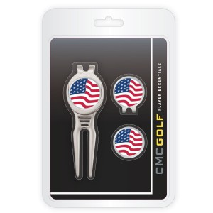 CMC Golf USA Cool Tool, Cap Clip and Ball Marker Clamshell Pack