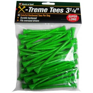 Jef World of Golf Gifts and Gallery, Inc. 3 1/4-Inch Extreme Tee - 50 Pack