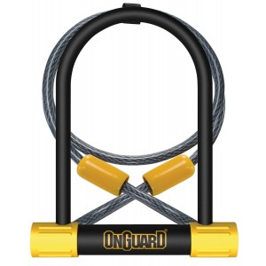 OnGuard Bulldog DT U-Lock with 4-Inch Cinch Loop Cable (Black, 4.53 x 9.06-Inch)