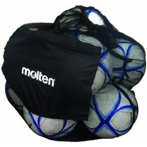 Molten Mesh Ball Bag, Holds up to 12 Soccer or Volleyballs (Black)