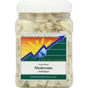 Mother Earth Products Freeze Dried Mushrooms, 1 Full Quart