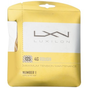 Luxilon 4G Rough Tennis String, Gold, 16L Gauge/1.25mm