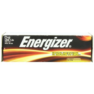 Energizer D Alkaline Industrial Batteries1.5v, Box of 12