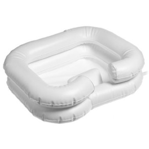 DMI Deluxe Inflatable Bed Shampooer Basin, White